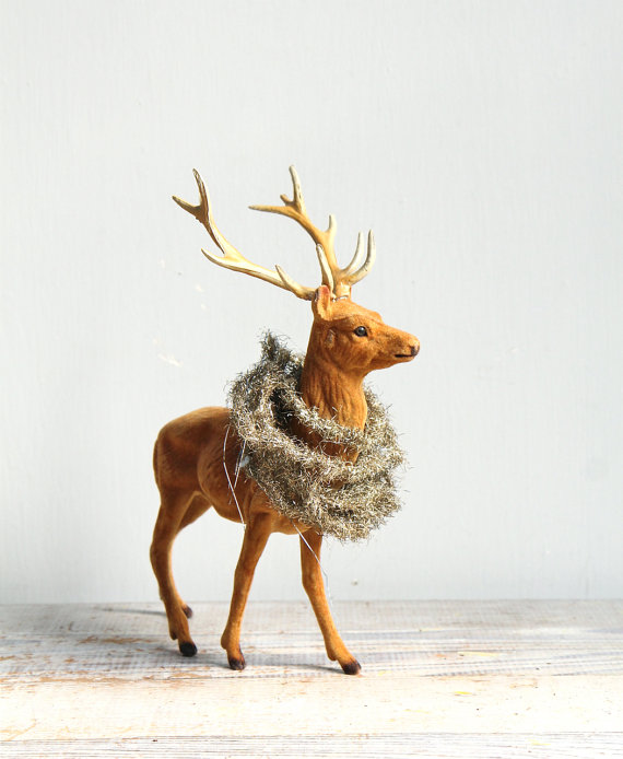 deer with tinsel