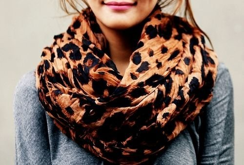 hot leapard scarf