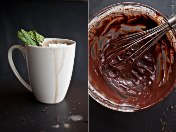 fresh mint hot cocoa